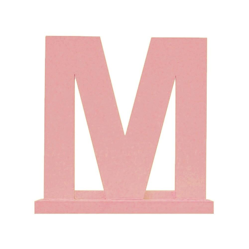 Letra Avulsa Rosa Mdf - Escolha uma Letra do Alfabeto