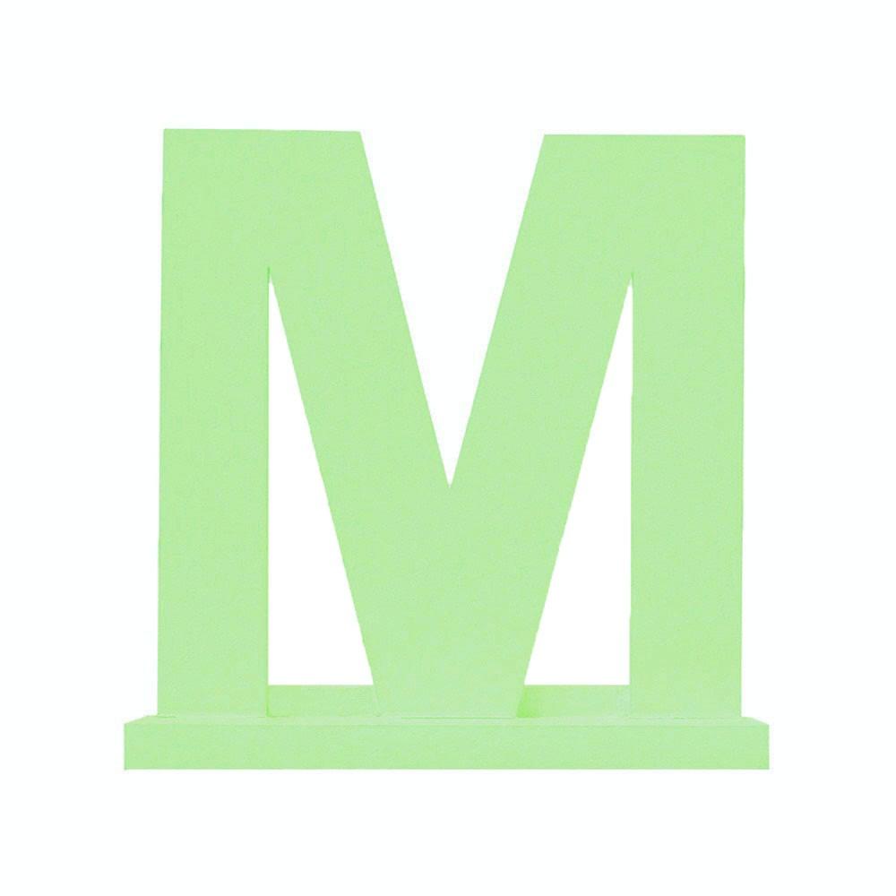 Letra Avulsa Verde Claro Mdf - Escolha uma Letra do Alfabeto