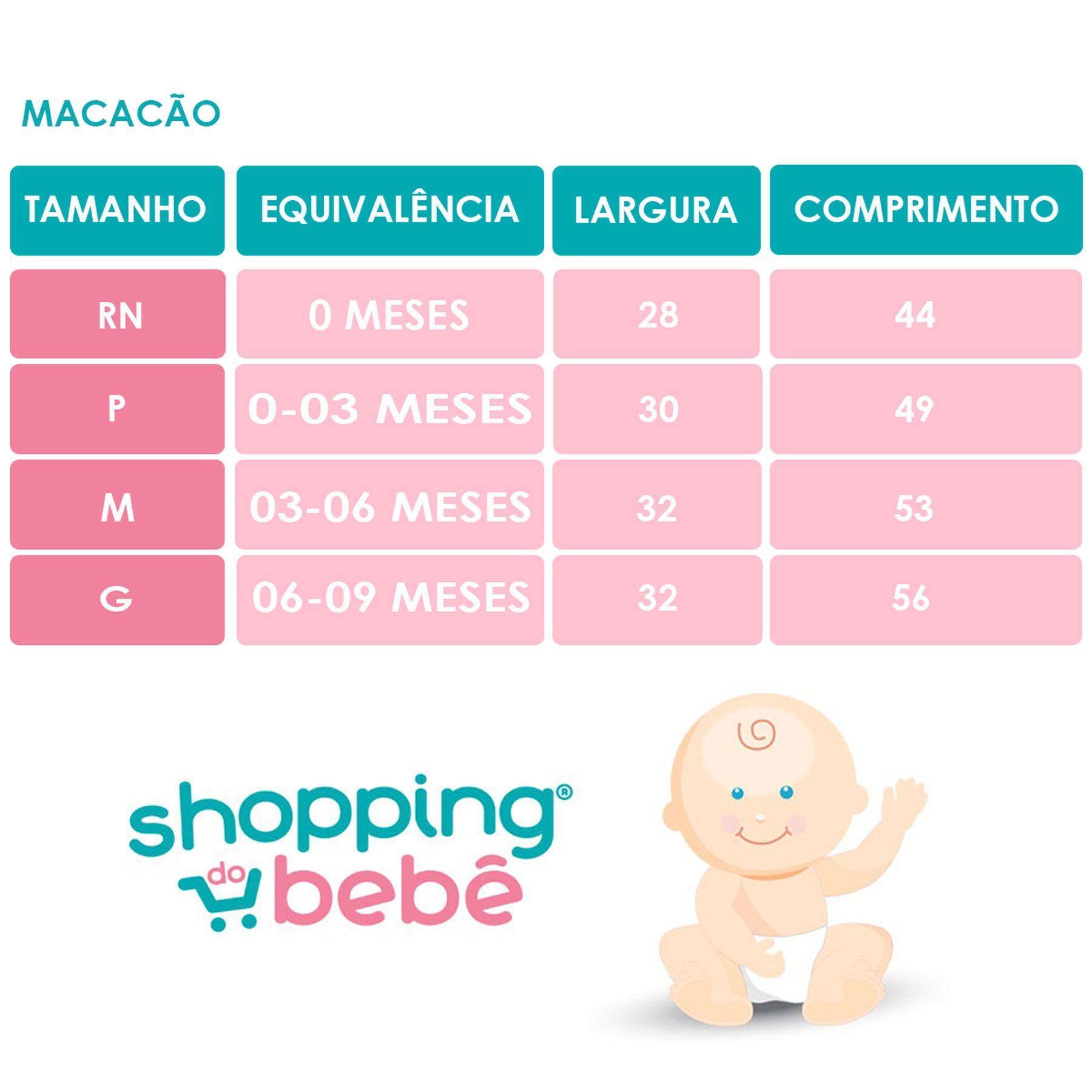 Macacão Manga Longa Bebê Malha Liso Palha