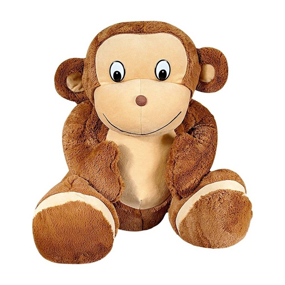 Macaco Pelúcia Importada Grande Marrom