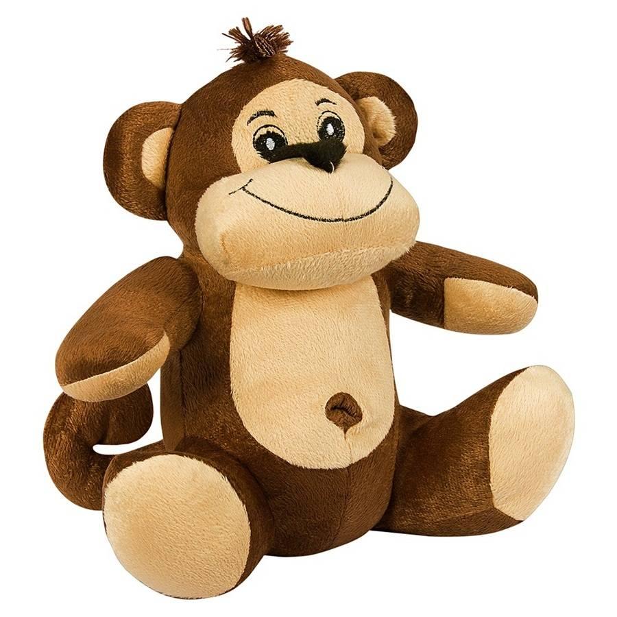 Macaco Pelúcia Importada Médio Marrom Sentado