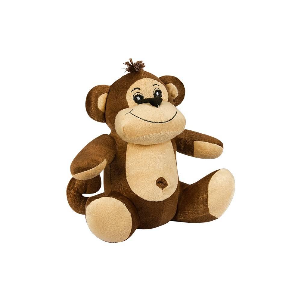 Macaco Pelúcia Importada Pequeno Marrom Sentado