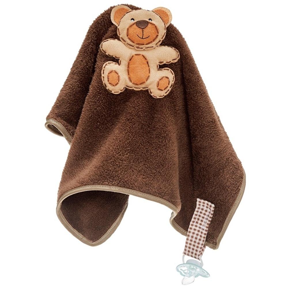 Naninha Grande Soft Urso com Prendedor de Chupeta