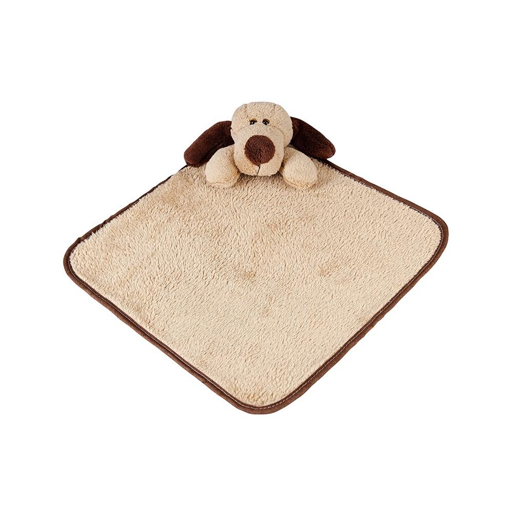 Naninha Pequena Soft Cachorro com Prendedor de Chupeta