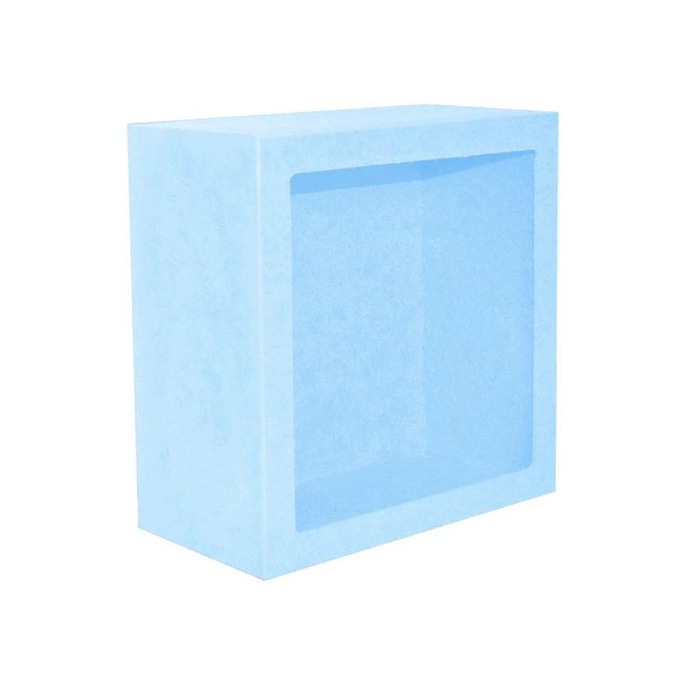 Nicho Quadrado Grande Azul Mdf