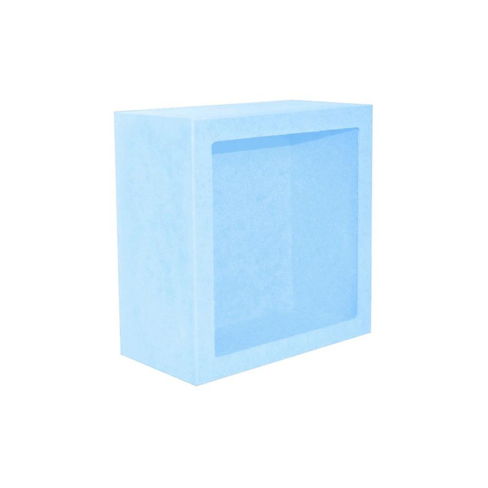 Nicho Quadrado Médio Azul Mdf