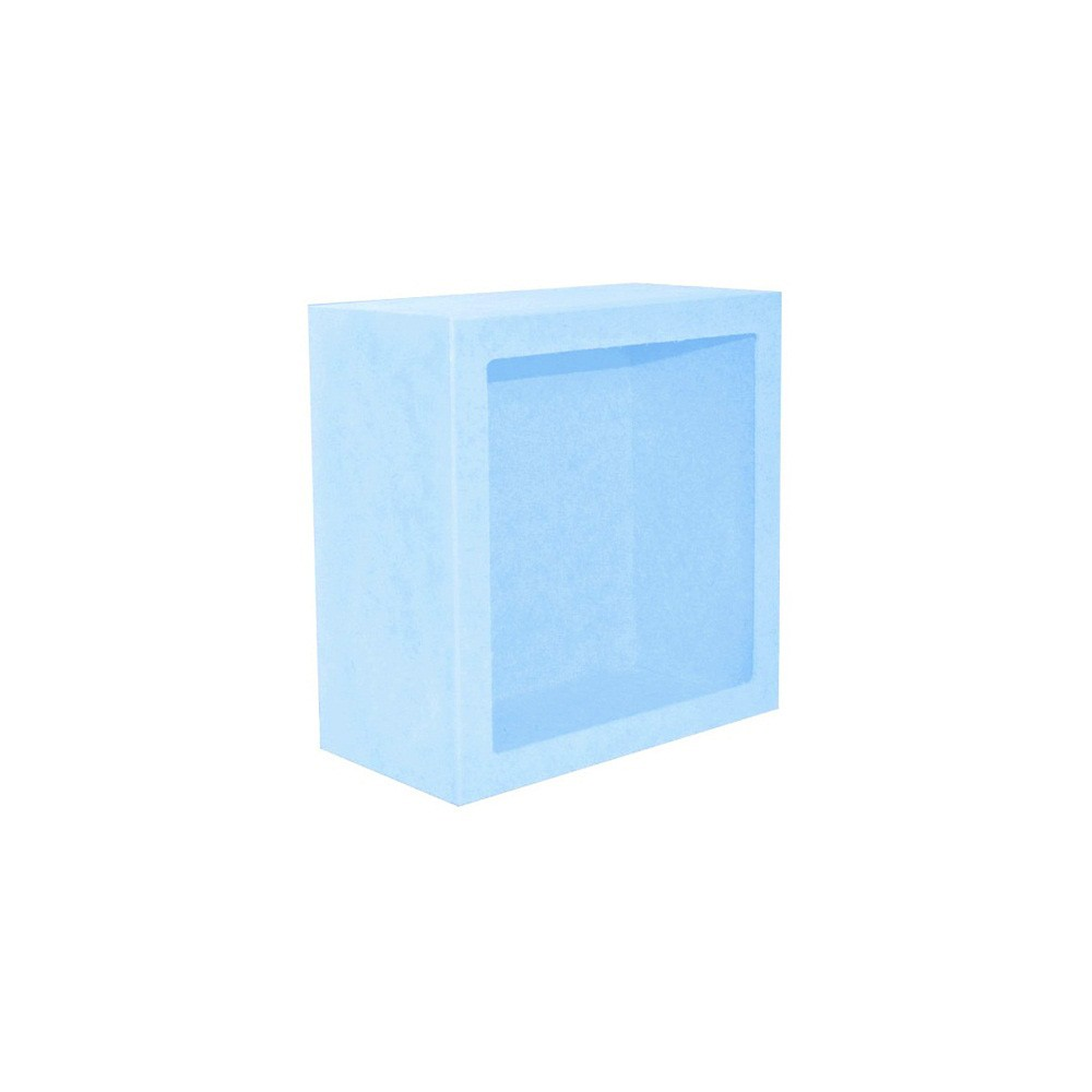 Nicho Quadrado Pequeno Azul Mdf