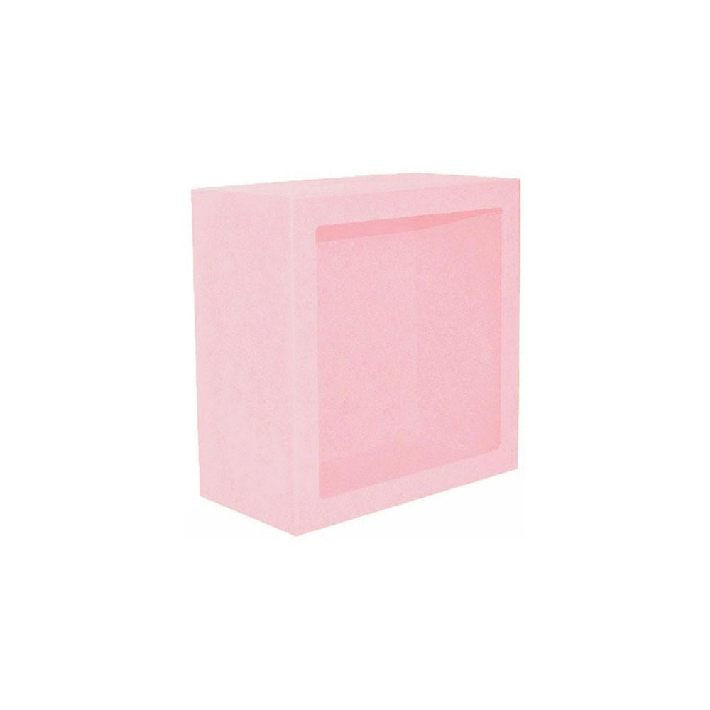 Nicho Quadrado Pequeno Rosa Mdf