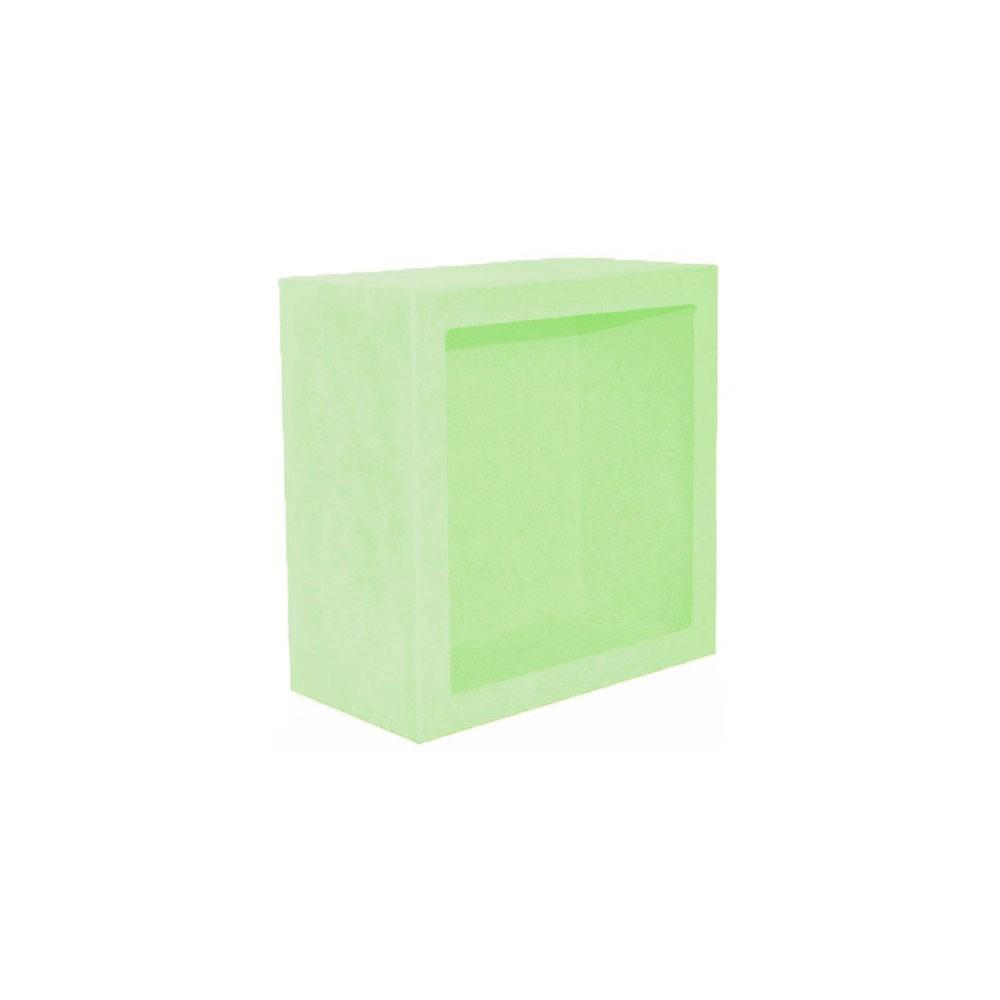 Nicho Quadrado Pequeno Verde Claro Mdf