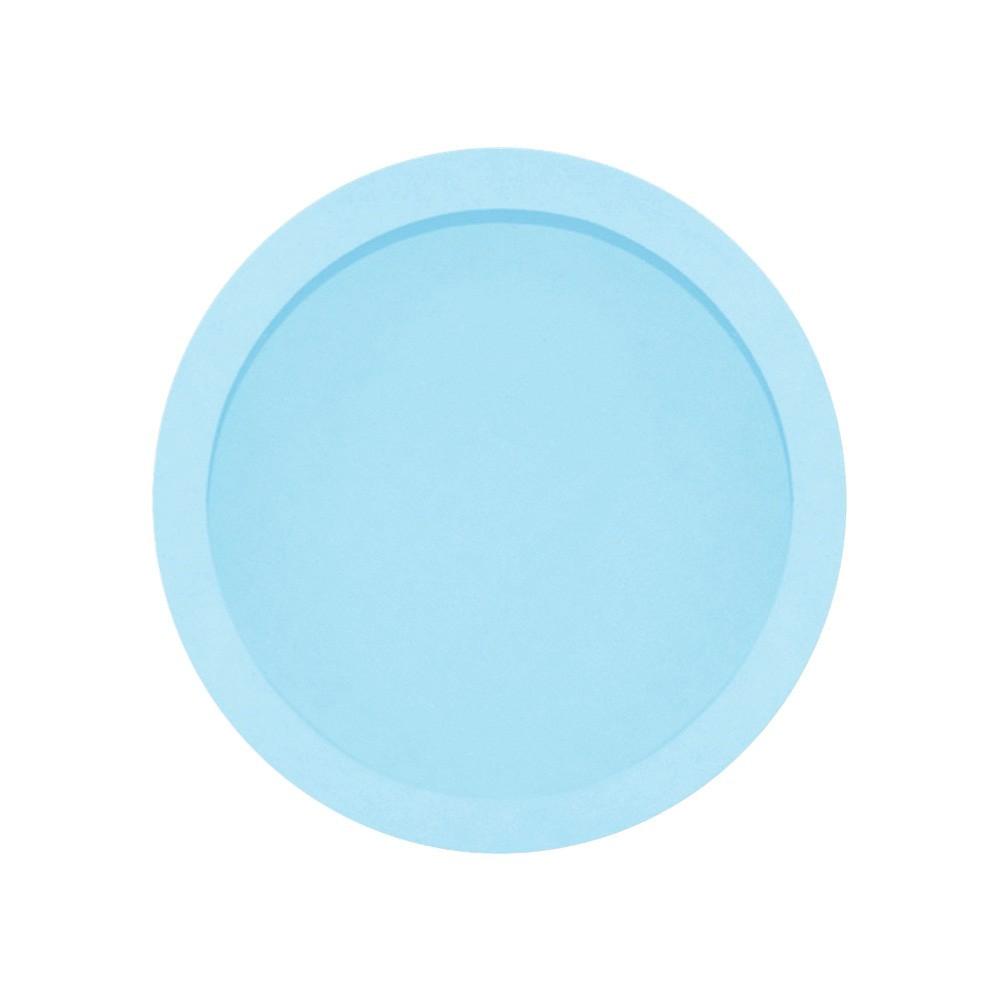 Nicho Redondo Grande Azul Mdf