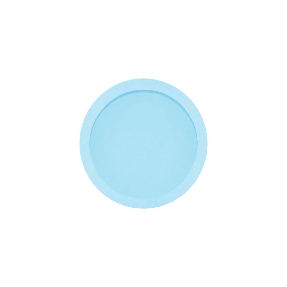 Nicho Redondo Pequeno Azul Mdf