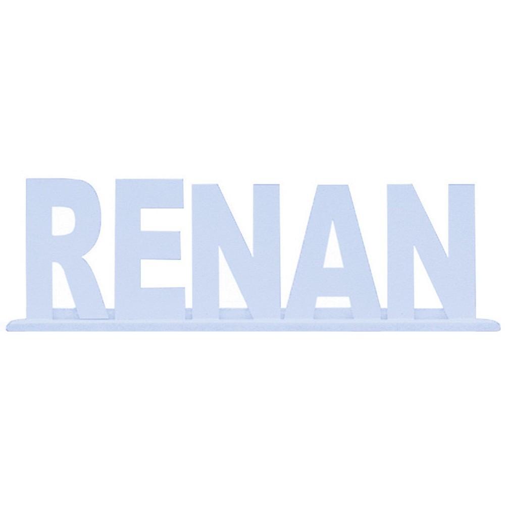 Nome com até 09 Letras Azul Mdf