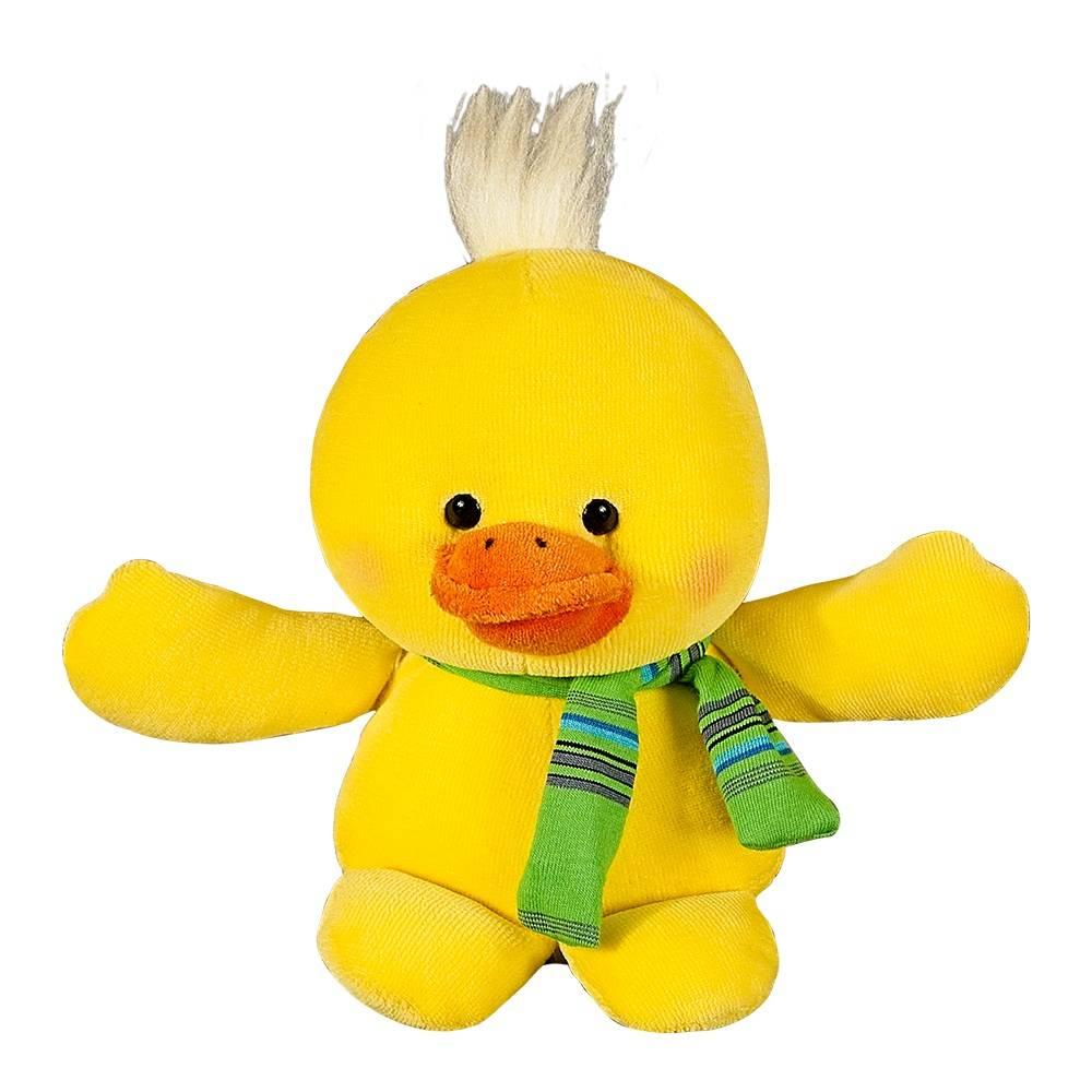 Patinho Plush Mini Amarelo com Cachecol