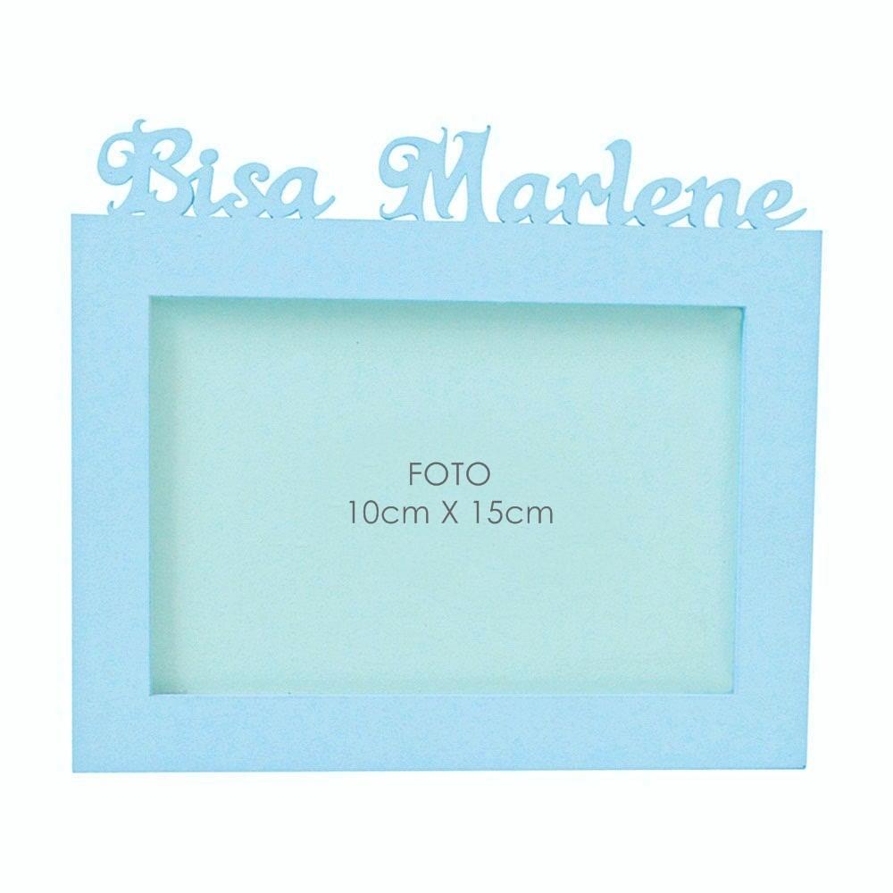 Porta-Retrato Azul Mdf Personalizado com Nome da Bisa