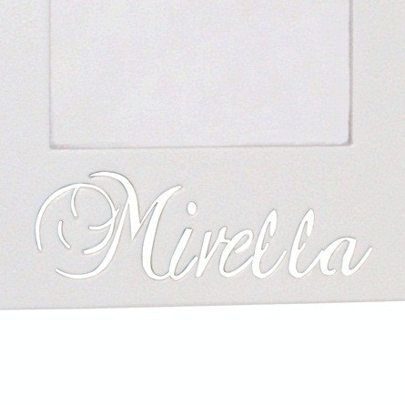 Porta-Retrato Branco Mdf Coroa Personalizado com Nome
