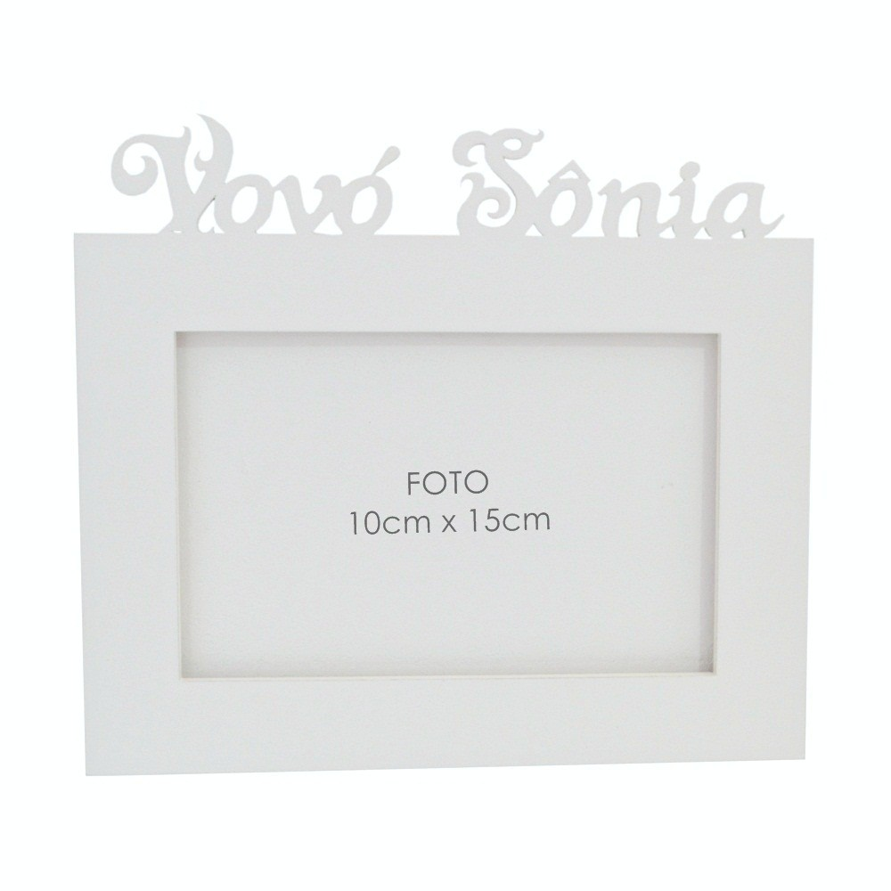 Porta-Retrato Branco Mdf Personalizado com Nome da Vovó