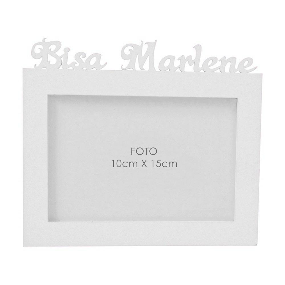 Porta-Retrato Marinho Mdf Personalizado com Nome da Bisa
