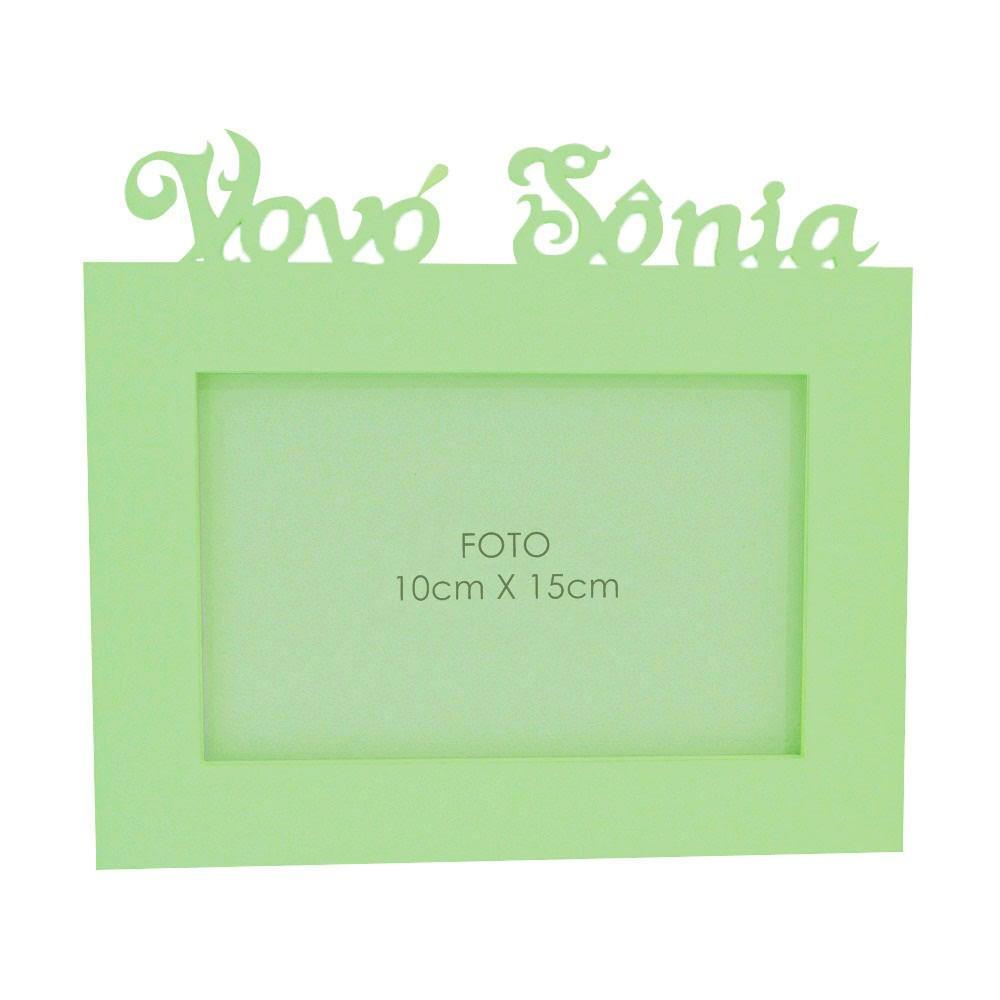 Porta-Retrato Verde Claro Mdf Personalizado com Nome da Vovó