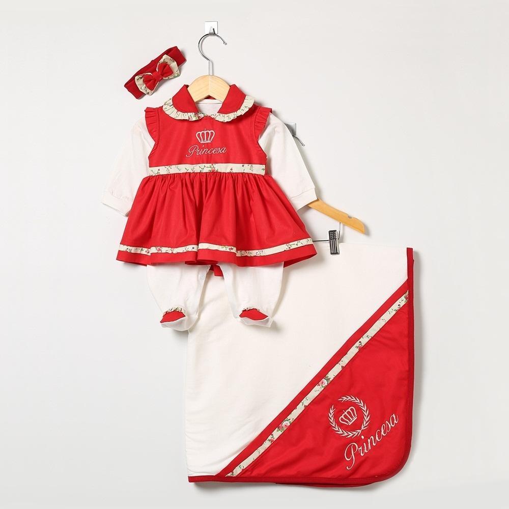 Saída Maternidade Manga Longa Princesa Floral com Faixa