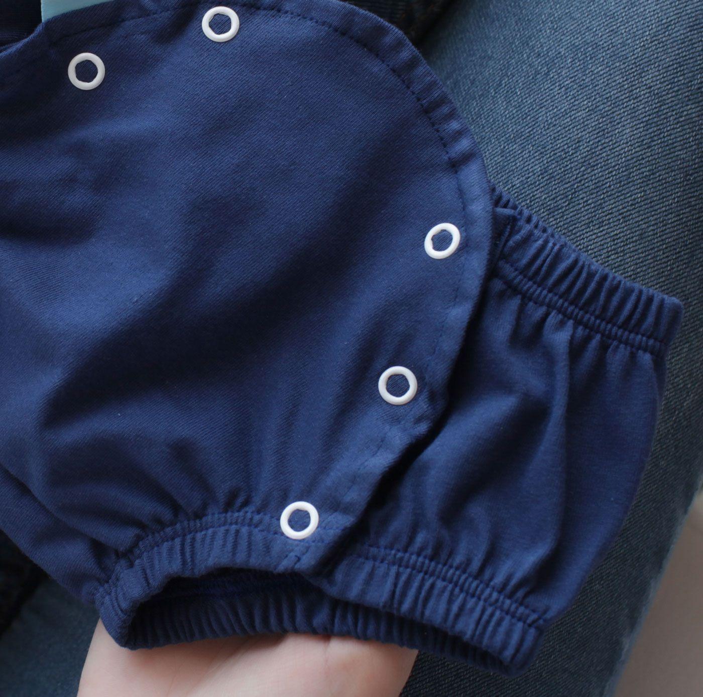 Tapa Fralda Infantil Malha Liso Marinho com Botões de Pressão