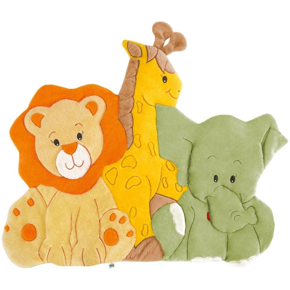 Tapete Grande Emborrachado Safari Baby Leão Girafa Elefante