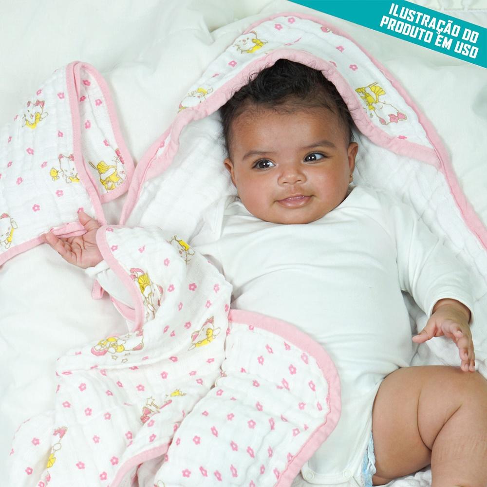 Toalha de Banho Fralda Bebê Soft Premium Bebê Hipoalergênico com Capuz Triângulos Azul