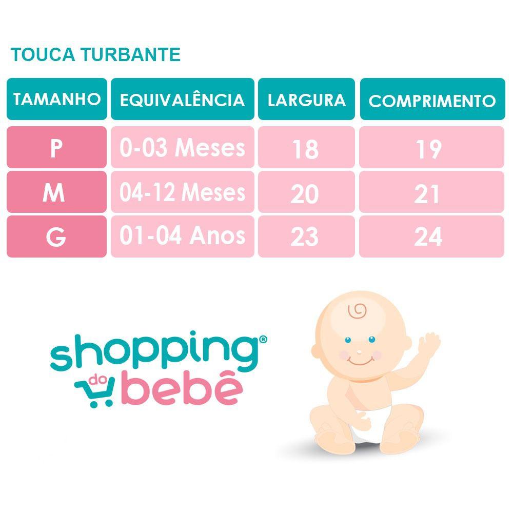 Touca Turbante Bebê Zoe Malha Gel Laço Vermelho