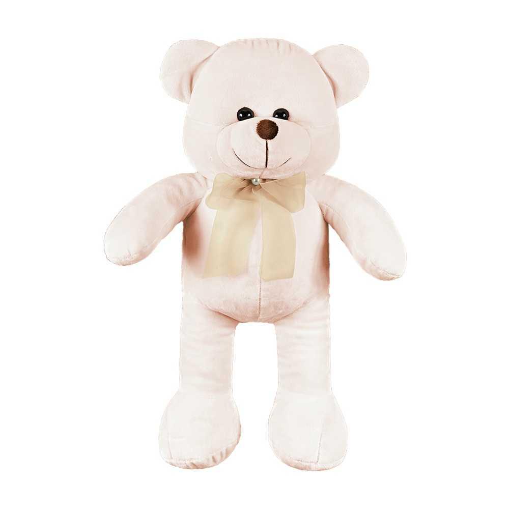 Urso Grande Palha Laço Caqui Pérola