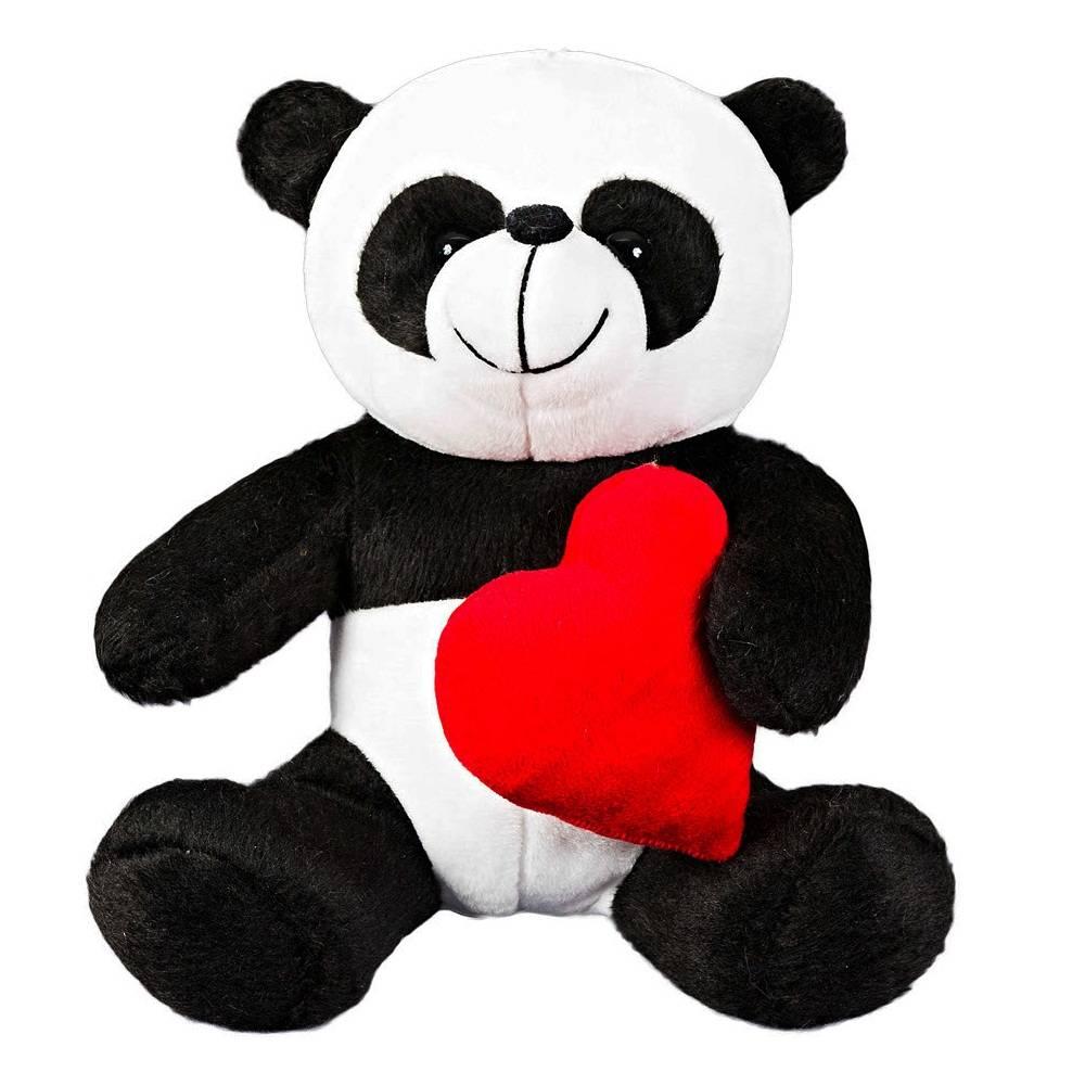 Urso Panda Pelúcia Importada Mini Preto e Branco