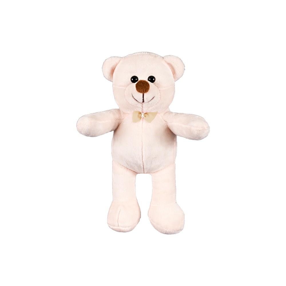 Urso Pequeno Palha Laço Caqui Pérola