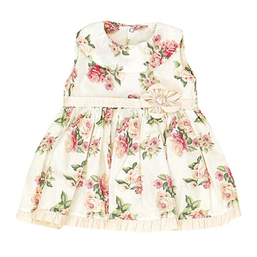 Vestido Regata Floral Barra Drapeada