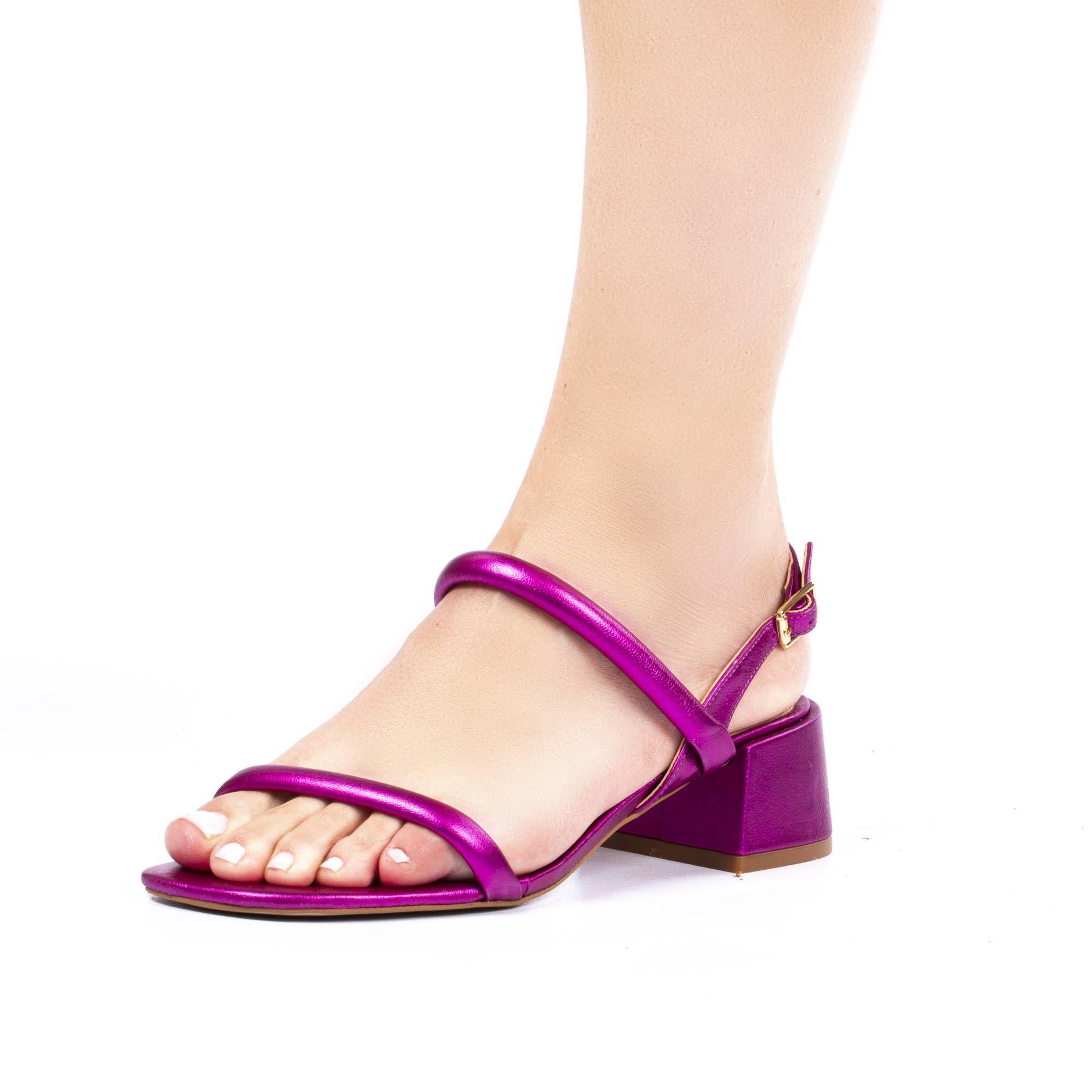 Sandália Salto Baixo Hits Calçados