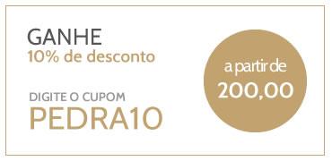 desconto de 10% a partir de 200 reais