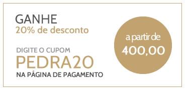 desconto de 20% a partir de 400 reais