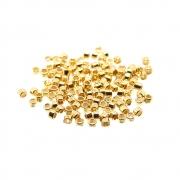 100 unids. Fixador Anilha 1,5mm Folheado Ouro 18k OF-EN131