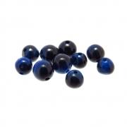 10 unids. Conta Esférica de Olho de Tigre Azul 4mm CAOT-79