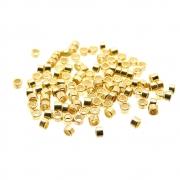 100 unids. Fixador anilha 1,75mm folheado em Ouro 18k OF-EN17