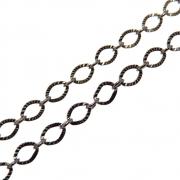 1m Corrente Elo Diamantado 3mm Folheado Grafite GF-CR83