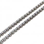 1m Corrente Zircônia Diamond 1,5mm Folheado Grafite GF-CR88