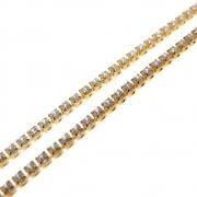 1m Corrente Zircônia Diamond 1,5mm Folheado Ouro 18k OF-CR88