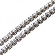 1m Corrente Zircônia Diamond 2,5mm Folheado Grafite GF-CR89