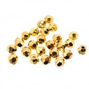 24 unids. Bolinha Facetada 4mm em ABS Folheado Ouro 18k OF-EN118