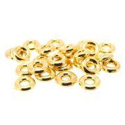 24 unids. Entremeio Argolinha 6,5mm em ABS Folheado Ouro 18k OF-EN90