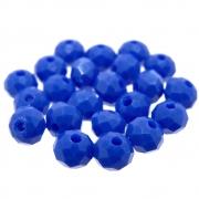 24 unids. Rondelzinho Facetado Cristal Cobalto 6mm CACG-233