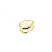 2 unids. Caixa Fit Inverse Gota 6x8 Folheado Ouro 18k CXGO0608-49