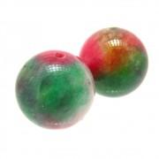 2 unids. Conta Esférica Jade Multicolor 14mm CAJD-490
