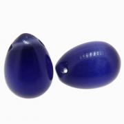 2 unids. Gota Cristal Olho de Gato Cobalto 12x17mm CACG-278