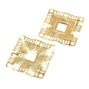 2 unids. Pingente Quadrado Arfoud Folheado Ouro 18k OF-PIN520