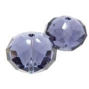 2 unids. Rondel Facetado Cristal Ametista 15mm CACG-250