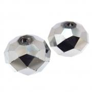 2 unids. Rondel Facetado Cristal Hematita Plated 15mm CACG-248